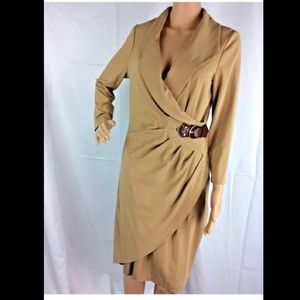 Cache Women's Wrap Dress with Front Buckle